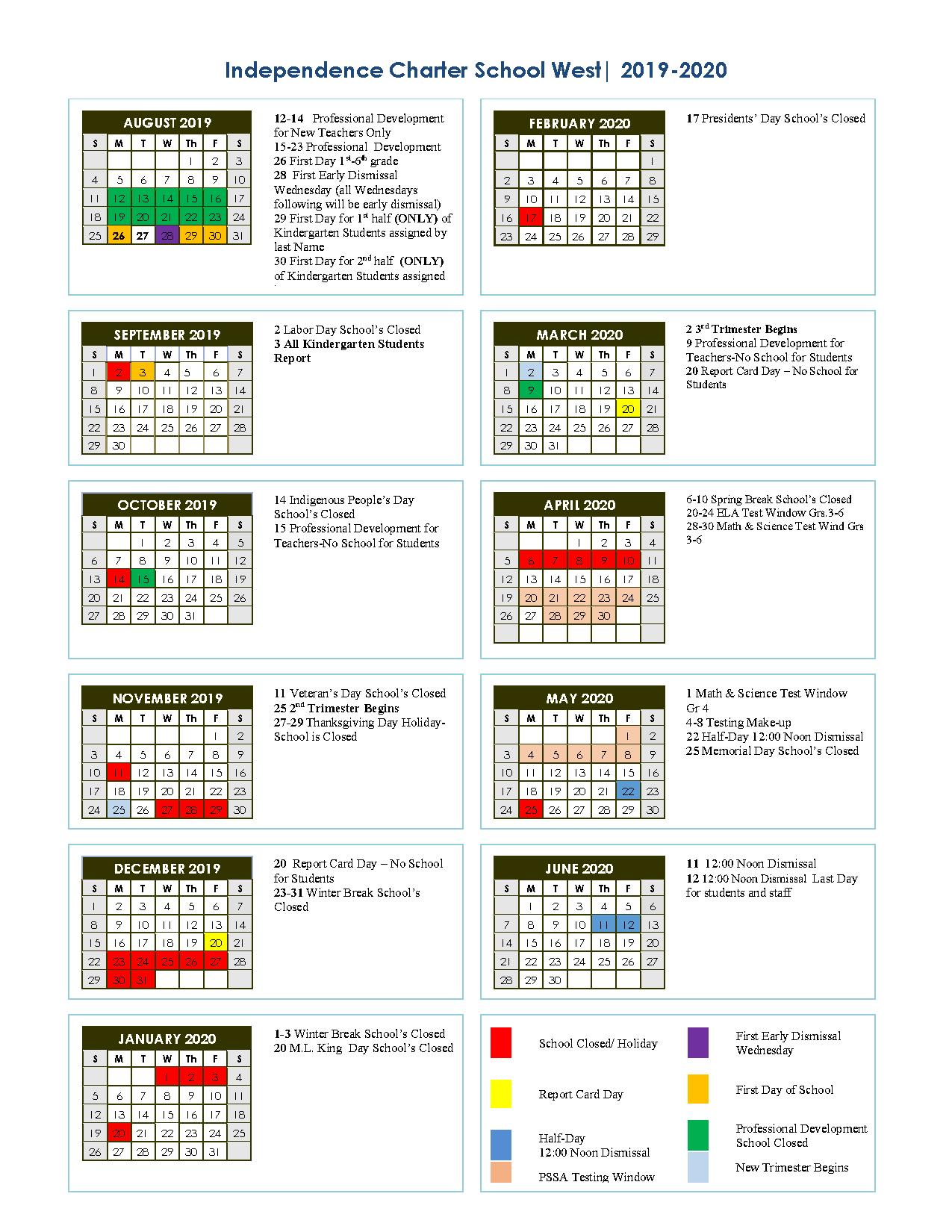 School District Of Philadelphia Calendar 2020 2019 2020 School Year Calendar